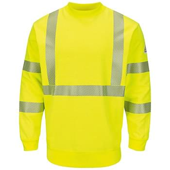 Hi-Visibility Crewneck Fleece Sweatshirt - Long Sizes
