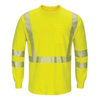 Hi-Visibility Lightweight Long Sleeve T-Shirt - Long Sizes