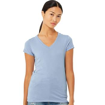 Women's Short Sleeve Jersey V-Neck Tee