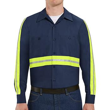 Industrial Enhanced-Visibility Long Sleeve Work Shirt -  Long Sizes