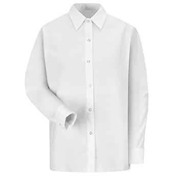Women's Long Sleeve Specialized Pocketless Poplin Work Shirt