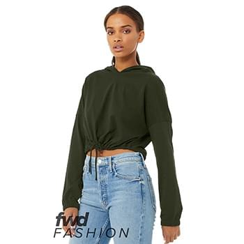 Fast Fashion Women's Cinched Cropped Hoodie