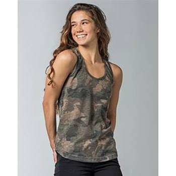Women's Slub Jersey Printed Tank Top