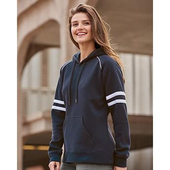 Women's Varsity Fleece Piped Hooded Sweatshirt