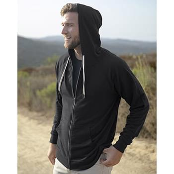 Icon Unisex Lightweight Loopback Terry Zip Hood