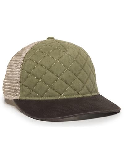 Quilted Front Mesh-Back Cap