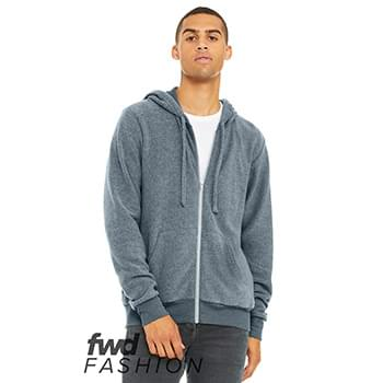 Fast Fashion Unisex Sueded Fleece Full-Zip Hoodie
