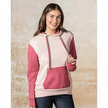 Women's Cloud Fleece Quilted Hooded Sweatshirt