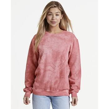 Garment-Dyed Spray Crewneck Sweatshirt