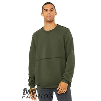 Fast Fashion Unisex Raw Seam Crewneck Sweatshirt