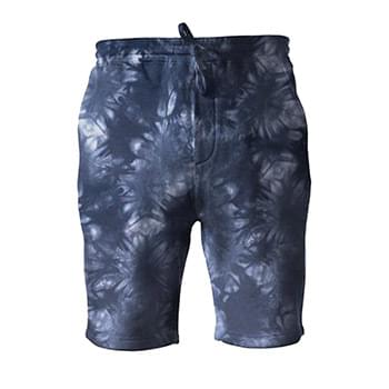 Tie-Dyed Fleece Shorts